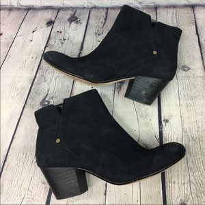 Nine West women's Suede Chunky Ankle Boots 6.5m